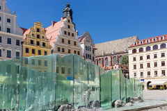 Sights of Poland.  Wroclaw old market Royalty Free Stock Photo