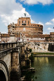 Sights of Saint Angel Castel, the old residence of Popes, City o Royalty Free Stock Photo