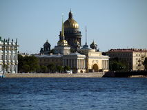The sights of Saint-Petersburg. The nice view of the sights of Saint-Petersburg Royalty Free Stock Photo