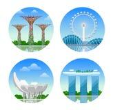 Sights of Singapore. vector illustration