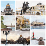 Sights of St. Petersburg in winter. Russia Royalty Free Stock Photography
