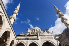 Sights of Turkey. New Mosque in Istanbul. Royalty Free Stock Photos