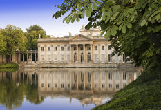 Sights of Warsaw. Palace Lazienki  in Warsaw. Royalty Free Stock Photography