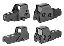 Sights for weapons Stock Photos