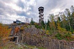 Sightseeing башня на & x27; Berget& x27 PA Uffe; - известное кафе на Aland стоковое фото rf