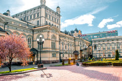 Sightseeing национальная опера в Киеве, Украине Стоковое Фото