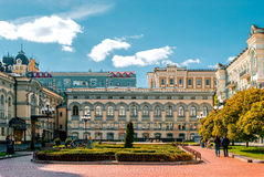Sightseeing национальная опера в Киеве, Украине Стоковое Изображение