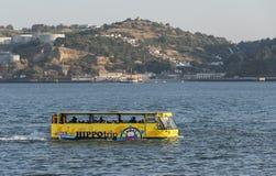 Sightseeing amphibian bus HIPPOtrip Lisboa Stock Photography