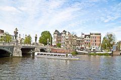 Sightseeing in Amsterdam Netherlands Royalty Free Stock Images