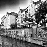 Sightseeing Berlin, artistic look in black and white. Royalty Free Stock Images