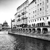 Sightseeing Berlin, artistic look in black and white. Royalty Free Stock Photography