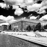 Sightseeing Berlin, artistic look in black and white. Stock Images