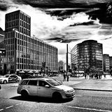 Sightseeing Berlin. Artistic look in black and white. Stock Image