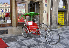 Sightseeing Bicycle in Old Town of Prague,Czech Republic Stock Photography