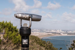 Sightseeing Binoculars Overlooking Downtown San Diego Stock Photography