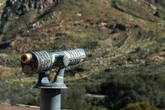 Sightseeing Binoculars Pointed Right Towards Mountain. Royalty Free Stock Image