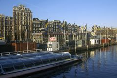 Sightseeing Boat, Amsterdam, Holland Royalty Free Stock Photography