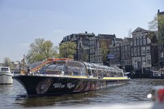 Sightseeing boat, Amsterdam, Netherlands stock photos