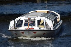 Sightseeing boat in Amsterdam Royalty Free Stock Photo