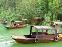 Sightseeing Boat from ancient town Stock Photo