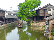 Sightseeing Boat from ancient town Stock Images