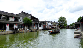 Sightseeing Boat from ancient town Royalty Free Stock Photos