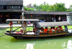 Sightseeing Boat from ancient town Stock Photography