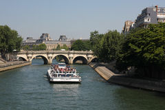 Sightseeing boat, Paris Royalty Free Stock Images