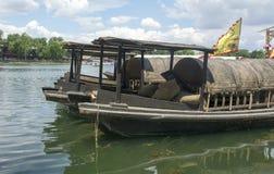 Sightseeing Boat of Shichahai Stock Photos
