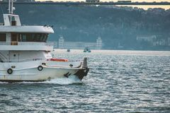 Sightseeing boat. In istanbul Royalty Free Stock Image