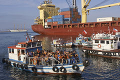 Sightseeing Boat in Valparaiso, Chile Stock Photos