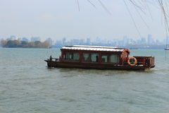 Sightseeing Boat in West Lake(xihu) in Hangzhou of China Royalty Free Stock Images