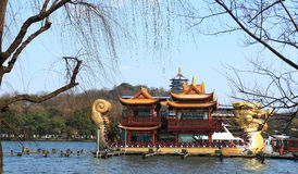 Sightseeing Boat in West Lake(xihu) in Hangzhou of China Stock Images