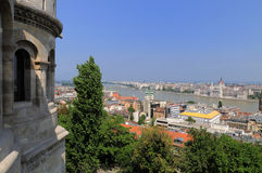 Sightseeing in Budapest, Hungary. Sightseeing from the Halaszbastya in Budapest, Hungary Royalty Free Stock Image