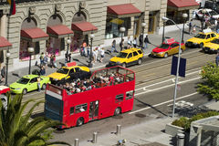 Sightseeing Bus. From a higher point Royalty Free Stock Photo