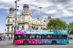 Sightseeing bus in Barcelona, Spain Royalty Free Stock Photos