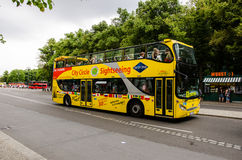 Sightseeing bus in Berlin, Germany Royalty Free Stock Images