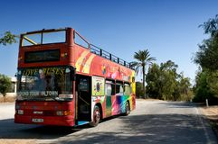 Sightseeing bus Famagusta -  Larnaka.. Cyprus Stock Photography