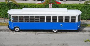 Sightseeing bus in Florida powered by bio diesel Royalty Free Stock Image