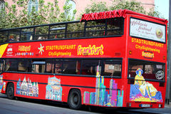Sightseeing Bus in Frankfurt, Germany Royalty Free Stock Photo
