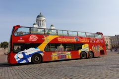 Sightseeing bus in Helsinki, Finland Stock Photo