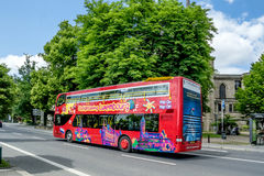 Sightseeing bus in Luxembourg Royalty Free Stock Images