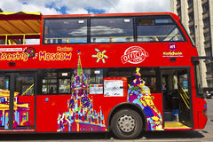 Sightseeing bus in Moscow, Russia. Royalty Free Stock Photo
