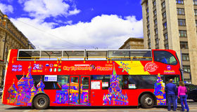 Sightseeing bus in Moscow, Russia. Royalty Free Stock Photos