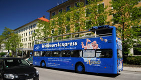Sightseeing bus in Munich. Royalty Free Stock Image