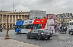 Sightseeing bus in Paris city, France royalty free stock photos
