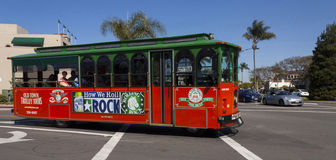 Sightseeing bus in San Diego. Royalty Free Stock Photo