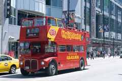 Sightseeing bus in Toronto stock photography