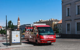 Sightseeing bus. Vilnius. Lithuania Stock Images