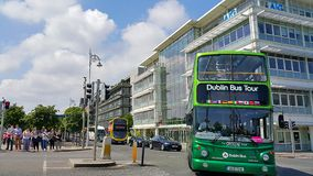 Sightseeing buses in Dublin Royalty Free Stock Images